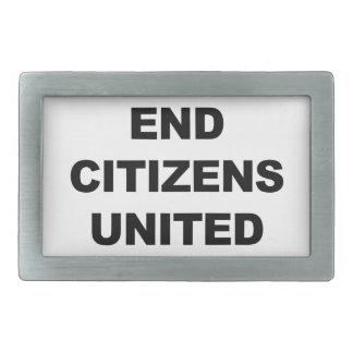End Citizens United Rectangular Belt Buckles