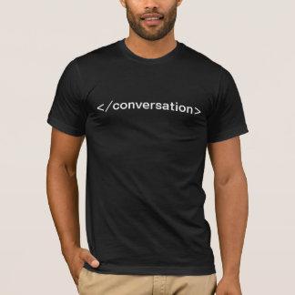 End Conversation html tag tshirt dark