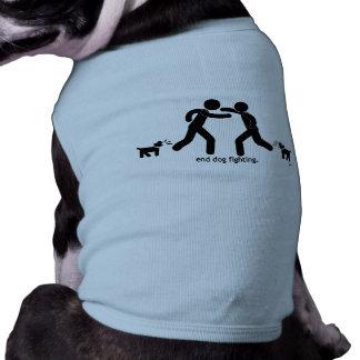 """""""end dog fighting."""" sleeveless dog shirt"""
