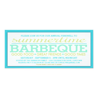 End of Summer Barbeque Party Card
