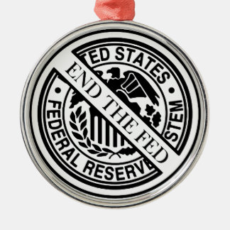 End The Fed Federal Reserve System Christmas Ornament