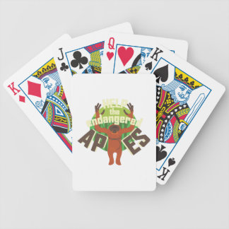 Endangered Apes Bicycle Playing Cards