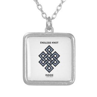 Endless Knot Inside (Psyche) Silver Plated Necklace