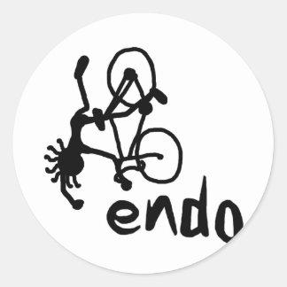 Endo Stick guy Classic Round Sticker