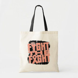Endometrial Cancer Fight The Fight Budget Tote Bag