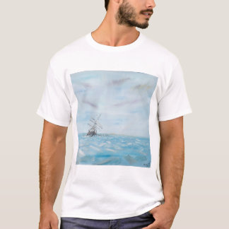 Endurance trapped by the Antarctic Ice. Painted T-Shirt