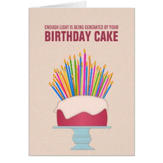 Energy Efficient Birthday Cake Birthday Card