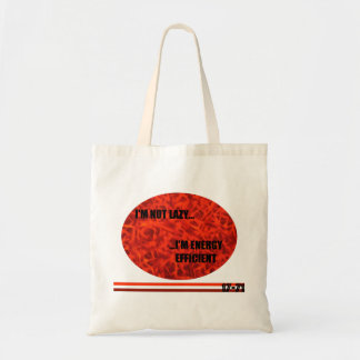 ENERGY EFFICIENT RED TOTE BAG
