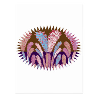 Energy Flames :  Colorful Fireworks Postcard