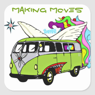 ENFAMTREE- Making moves bomber bus Square Sticker