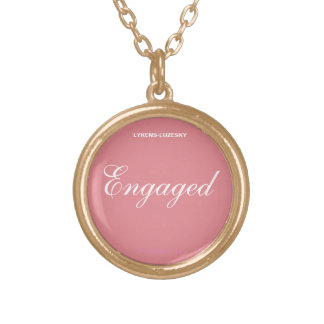 Engaged Gold Plated Necklace