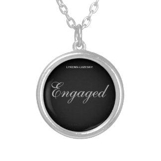 Engaged Round Pendant Necklace
