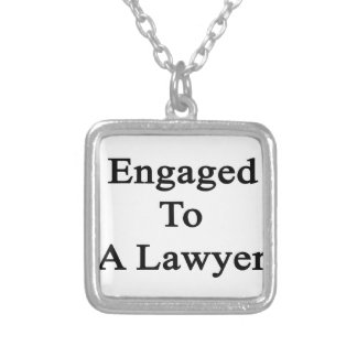 Engaged To A Lawyer Square Pendant Necklace