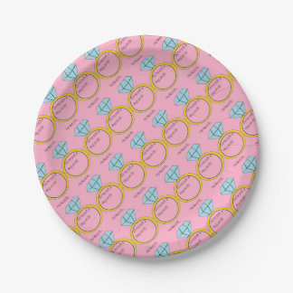 engagement 7 inch paper plate
