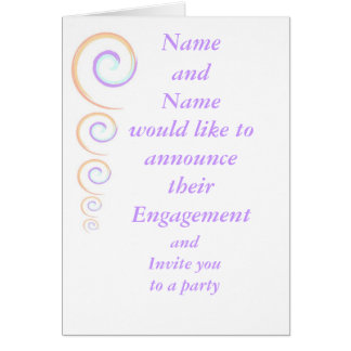 Engagement Announcement and Party Invitation