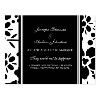 Engagement Announcement Postcards Black and White