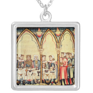 Engagement Banquet, from the manuscript Silver Plated Necklace
