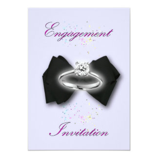 Engagement invitation Engagement party bowtie ring