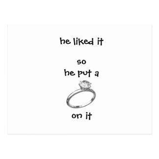 Engagement Invitation Postcard