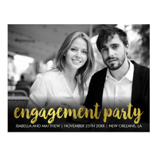 Engagement Party | Fun Personal Photo Postcard