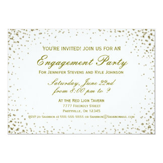 Engagement Party | Gold Confetti