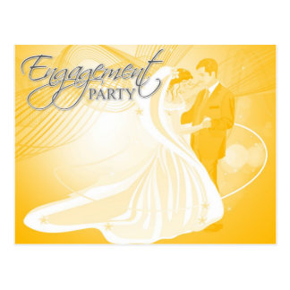 Engagement Party Invitation Postcard