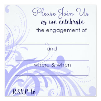 Engagement Party Invitations in Periwinkle