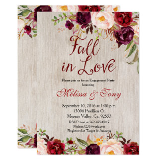 Engagement Party Rustic Shower Fall Invite
