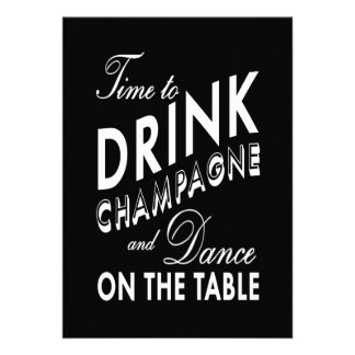 Engagement Party - Time to Drink Champagne Card