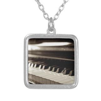 Engagement Piano Keys Square Pendant Necklace