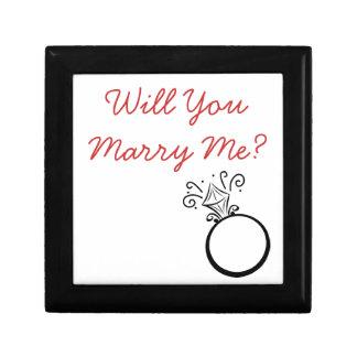 Engagement Ring Box Small Square Gift Box
