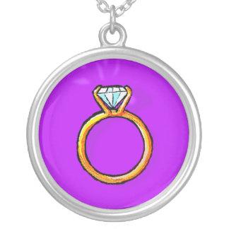 Engagement Ring (purple) Pendant