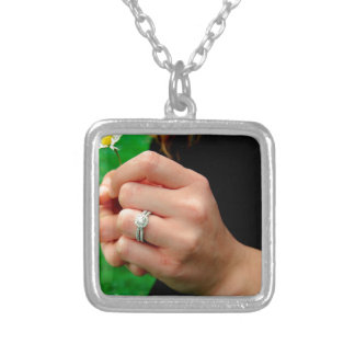 Engagement ring with Daisy Pendant