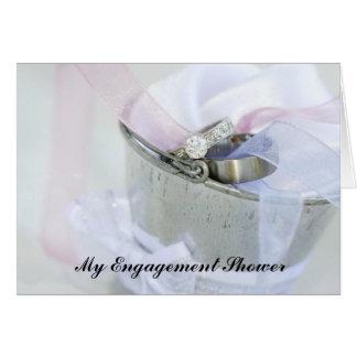 Engagement Shower Invitation Greeting Card