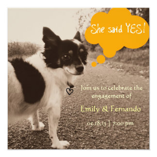 Engagnement Chihuahua Card