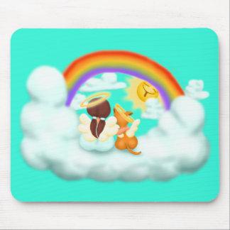 Engel und Hund Mouse Pad