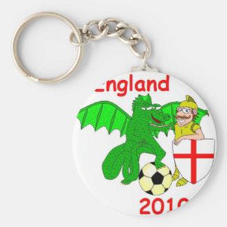 England 2010 basic round button key ring