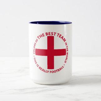 England - England Art Shield Two-Tone Coffee Mug