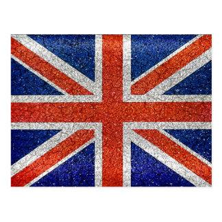 England Flag Vivid Grunge Style Postcard