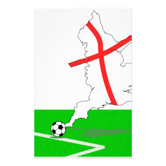 ENGLAND Football Team White Background Stationery Paper