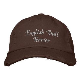 English Bull Terrier Dog Embroidered Baseball Cap