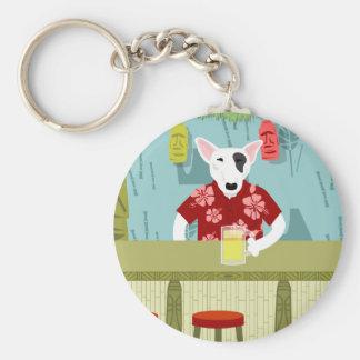 English Bull Terrier Tiki Bar Key Ring