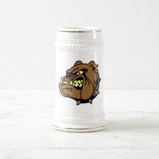 English Bulldog Cartoon Beer Stein