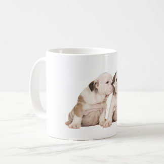 English bulldog puppies coffee mug