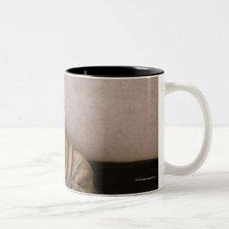English bulldog puppies Two-Tone coffee mug