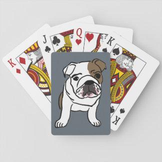 English Bulldog Puppy Pet Dogs Illustration Playing Cards