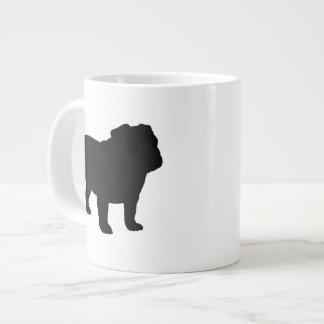 English Bulldog Silhouettes Large Coffee Mug