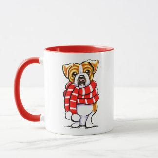 English Bulldog Winter Scarf Custom Color Mug