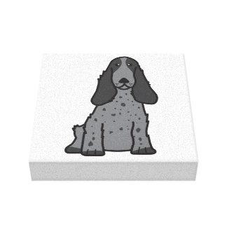 English Cocker Spaniel Dog Cartoon Canvas Print