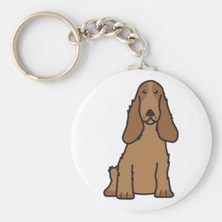 English Cocker Spaniel Dog Cartoon Key Ring